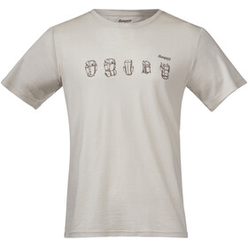 Bergans Backpack Camiseta de Lana Hombre, chalk sand/forest brown